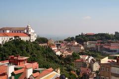 Vista geral de Lisboa velha fotografia de stock royalty free