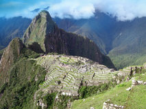 Vista geral de Machu Picchu em Peru Imagem de Stock