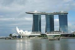 Vista geral de Marina Bay Sands fotografia de stock