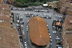 Vista geral de Siena Italy Fotos de Stock Royalty Free