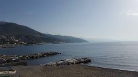 Vista geral de uma costa de Arenzano Imagens de Stock Royalty Free