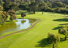 Vista geral do campo de golfe imagens de stock