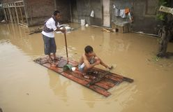 VISTA GERAL DO CLIMA DE INDONÉSIA Imagem de Stock