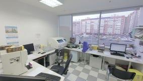Vista geral do laboratório médico video estoque