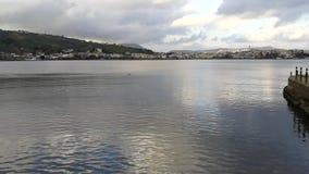 Vista geral do lago Miseno vídeos de arquivo