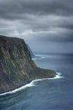 Vista geral do litoral havaiano imagens de stock