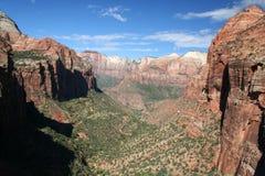 Vista geral do parque nacional de Zion Fotografia de Stock