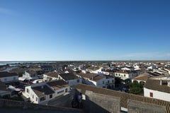 Vista geral do Saintes-Maries-de-la-Mer, França Fotos de Stock Royalty Free