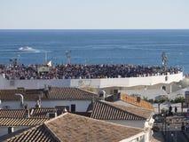 Vista geral do Saintes-Maries-de-la-Mer, França Imagem de Stock Royalty Free