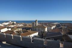 Vista geral do Saintes-Maries-de-la-Mer, França Fotografia de Stock Royalty Free