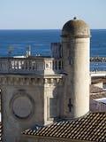 Vista geral do Saintes-Maries-de-la-Mer, França Foto de Stock