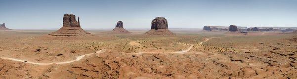 Vista geral do vale do monumento fotografia de stock