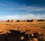 Vista geral do vale do monumento Fotos de Stock Royalty Free