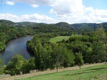 Vista geral do vallye da represa de Urfttal foto de stock