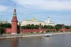 Vista geral em Moscovo kremlin Foto de Stock