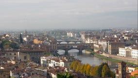 Vista geral Florença da cidade, Itália filme