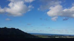 Vista geral havaiana da paisagem imagens de stock