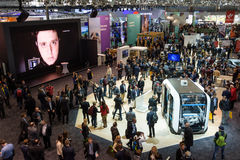 Vista geral na cabine do IBM no CeBIT 2017 Fotos de Stock