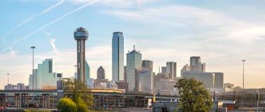 Vista geral panorâmico de Dallas do centro fotografia de stock