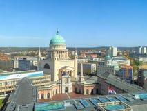 Vista geral Potsdam, St Nicholas Church Imagem de Stock