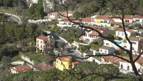 Vista geral sobre construções e telhados de Cannes filme