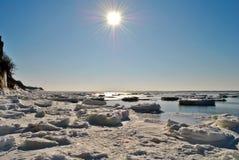 Vista ghiacciata Fotografia Stock
