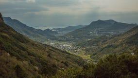 Vista giapponese tipica dell'isola Immagine Stock