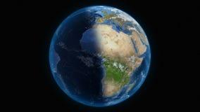 Vista globale del pianeta della terra illustrazione di stock