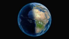 Vista globale di stupore del pianeta Terra stock footage