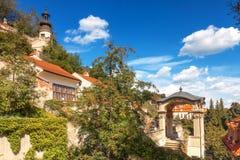 Vista globale sul piccolo giardino di Furstenberg dal giardino di Kolowrat Fotografie Stock Libere da Diritti