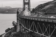 Vista golden gate bridge de North Point fotografia de stock