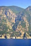 Vista Grécia de Monte Athos Fotos de Stock Royalty Free