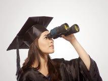 Vista graduada com binocular imagem de stock royalty free