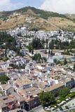 Vista a Granada, Andalusia, Spagna Fotografia Stock