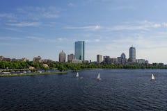Vista granangular de Boston imagenes de archivo