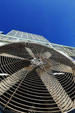 Unidad al aire libre Manhattan Nueva York de Contidioner del aire urbano de la HVAC Foto de archivo libre de regalías