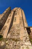 Vista granangular maravillosa de la abadía antigua de Mont Saint-Michel Normandía, Francia, Europa Fotos de archivo libres de regalías