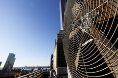 Unità all'aperto Manhattan New York di Contidioner dell'aria urbana di HVAC Immagini Stock Libere da Diritti