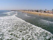 Vista grandangolare del mare e del puntello Immagine Stock Libera da Diritti