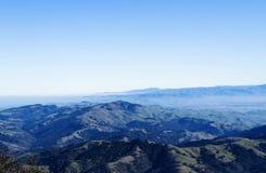 Vista grandangolare del sud dal supporto Diablo California Immagine Stock Libera da Diritti