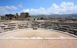Vista grandangolare di Byblos (Libano) Immagini Stock