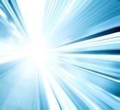 Vista grandangolare di prospettiva di blu-chiaro moderno illuminato Fotografia Stock