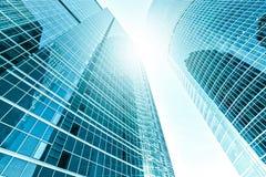 Vista grandangolare di prospettiva e panoramica ad acciaio Immagine Stock Libera da Diritti