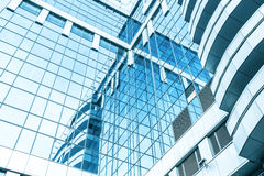 Vista grandangolare di prospettiva e panoramica ad acciaio Fotografia Stock Libera da Diritti