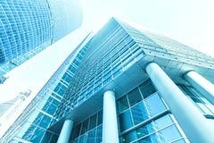 Vista grandangolare di prospettiva e panoramica ad acciaio Immagini Stock Libere da Diritti