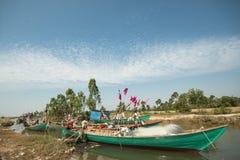 Vista grandangolare eccellente del peschereccio Fotografia Stock Libera da Diritti