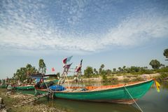 Vista grandangolare eccellente del peschereccio Fotografia Stock