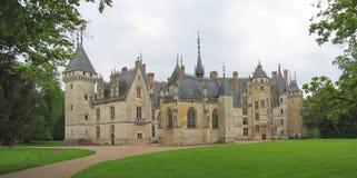 Vista grande de un castillo francés Fotografía de archivo libre de regalías