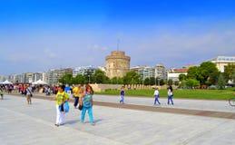 Vista Grecia della passeggiata di Salonicco Fotografia Stock Libera da Diritti