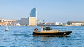 Vista-Hafenansicht mit Barcelona-Versuchsboot Stockfoto